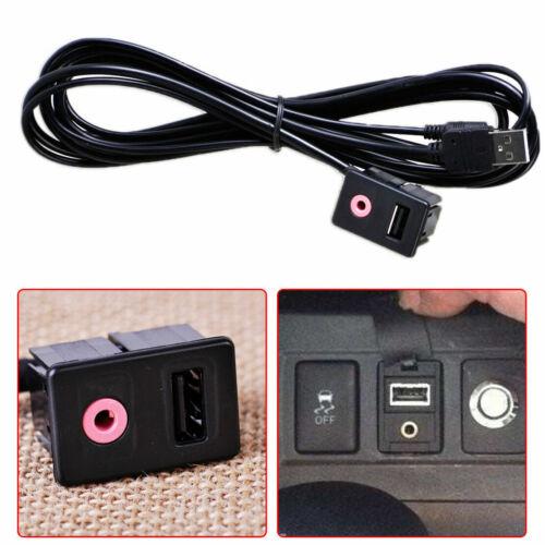 SAUJNN Car Dashboard Flush Mount USB Port//3.5mm Audio to USB Male 2 RCA Plug Cable New