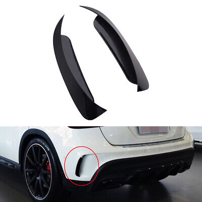 Black ABS Rear Canard Air Vent Cover Trim Fit For Mercedes Benz GLA 45 200 250