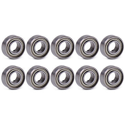 10pcs 5x11x5mm 685 685zz Miniature Ball Bearings 5mm Bore Shielded Deep Groove