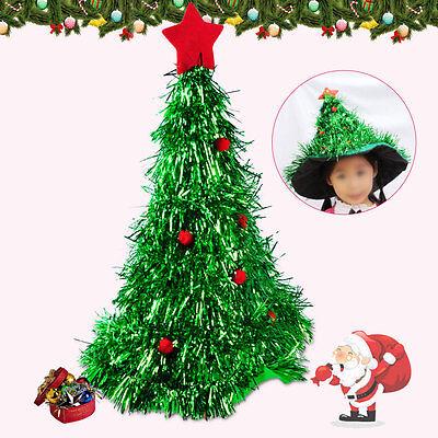 Weihnachtsbaum Hut Weihnachten Kostüm Santa Hut Mütze Kappe Elfen Neuheit Party ()