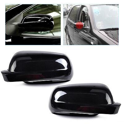 For 1996-2004 VW Golf MK4 Jetta Passat B5 Pair Black Wing Mirror Cover Case Cap