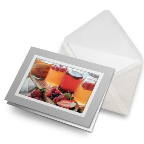 Greetings Card (Grey)  - Kombucha Fermented Fruit Tea Keto  #45484