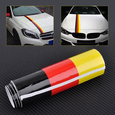 German Auto Body - Car Auto Body Bonnet Roof Trunk German Germany Flag Sticker Decals Strip Decors