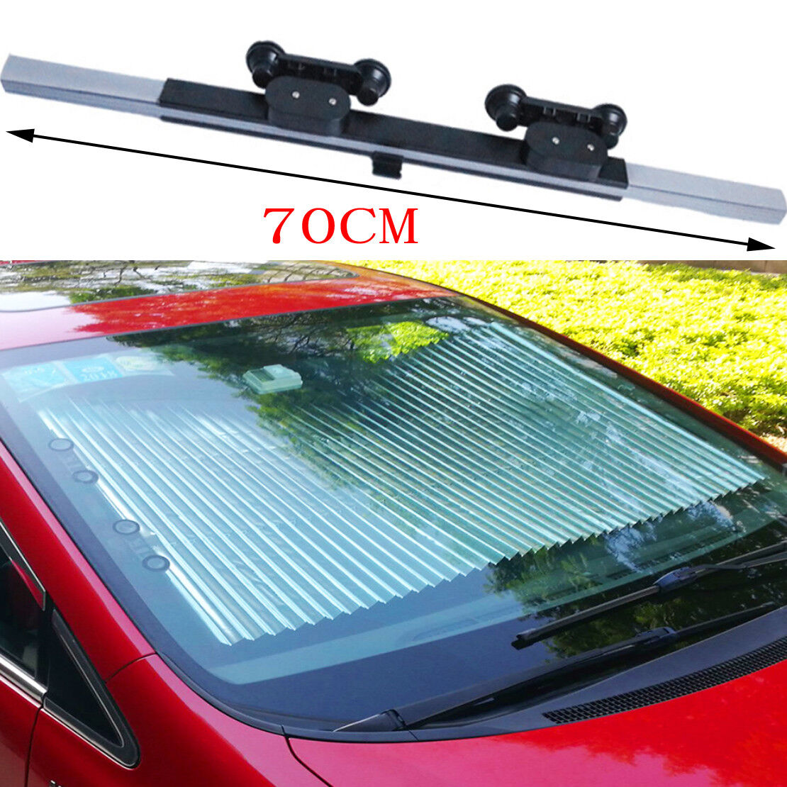 Auto Retractable Car Windshield Sun Shade Visor Sun Block Reflective