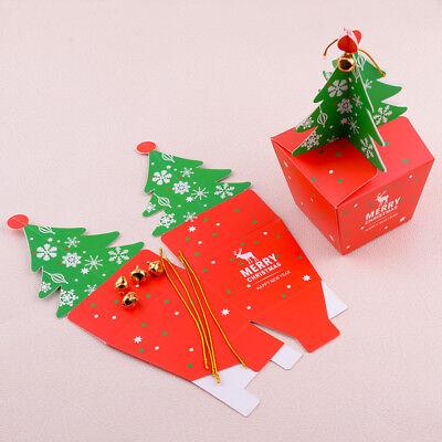 Candy Apple Boxen (10*Weihnachtsbaum Papier Box Süßigkeiten Apple Candy Christmas Geschenkboxen NEU)