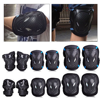 6x Skateboard Roller Blading Elbow Knee Wrist Protective Safety Gear Pad Guard