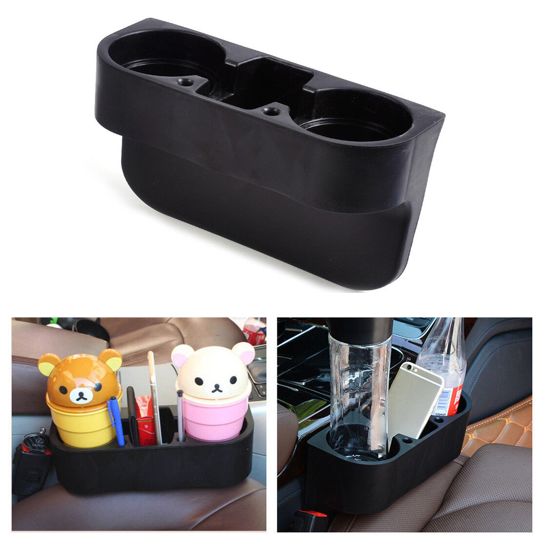 Universal Car Seat Seam Wedge Cup Drink Holder Mobile