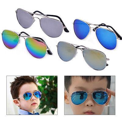 Cool Kids Child Boy Girl Retro Aviator UV400 Sunglasses Metal Frame Sun Glasses