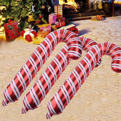 6stk Weihnachten Rot & Weiß Groß Kinder Zuckerstange Ballon Party Dekor