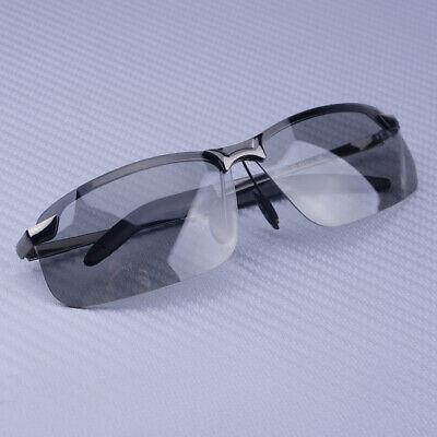 Männer polarisiert photochrome Übergang Objektiv Sonnenbrille Schwarz Spiegel