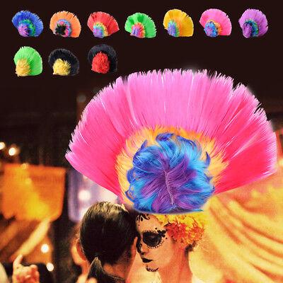 Mohawk Perücke Irokesen Punk Gothic Bunt Wig Karneval Kostüme Halloween Party (Mohawk Halloween Kostüme)