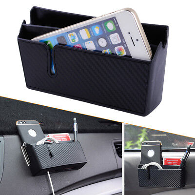 Cars Accessories Cell Phone Organizer Box Bag Holder W/ Charging Hole Useful