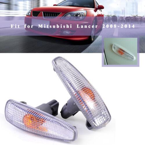 Pair Turn Signal Lamp Fender Light For Mitsubishi Lancer Outlander Sport RVR