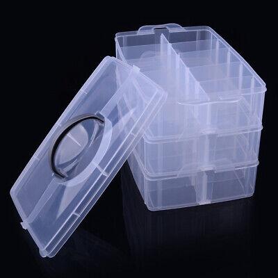 Transparente Tres capas Joyería Productos cosméticos Caja de almacenaje Envase