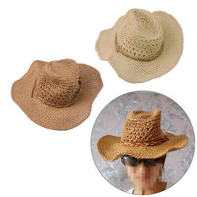 Cowboy-Hut Western Cowgirl Stroh Hüte Texas Karneval Fasching TREND