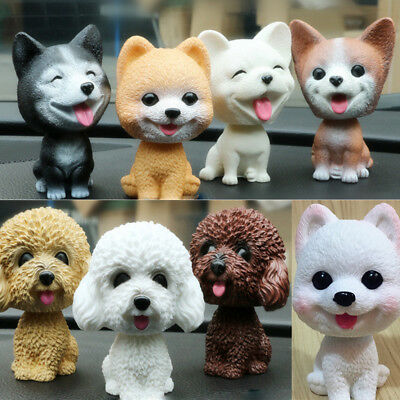 Swing Head Dog Corgi Husky Nodding Moving Bobble Car Home Decor Puppy Cute Toy