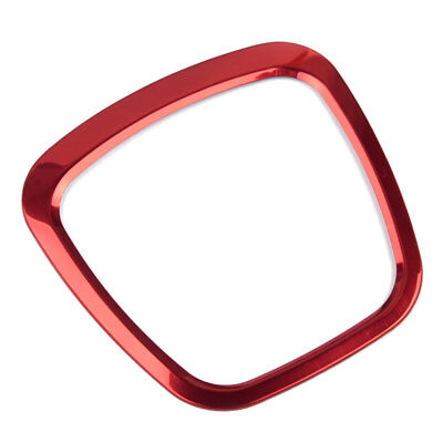 Car Steering Wheel Sticker Aluminum Body Emblem Red For Audi Q3 Q5 A6L A4L A3