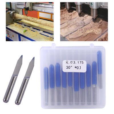 10pcs W Steel Pcb Board 0.1mm 30 Degree Engraving Bit Cnc Router Tool V-shape