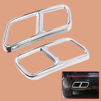 2stk Edelstahl Auspuff Blende Endrohre Abdeckung fit für Benz W222 W251 X166 tp