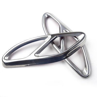 2xSilber Auspuff Schalldämpferabdeckung Trim für Mercedes Benz GLS Klasse 15-17