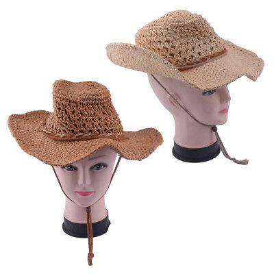 Western Cowboy-Hut Cowgirl Stroh Hüte Texas Karneval Fasching TREND