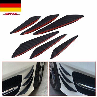 6x Universal Auto Front Stoßstange Flaps Splitter Fins Spoiler Flügel Canards