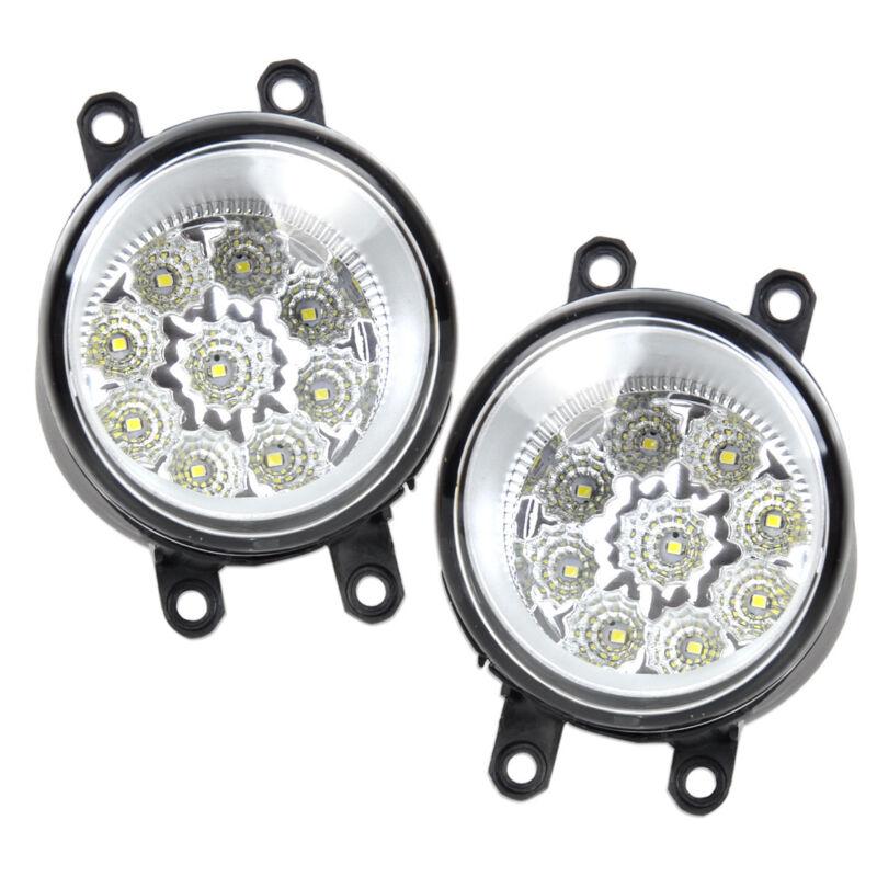 For Toyota Camry Corolla Lexus 55W 9-LED Fog Lamp DRL Daytime Driving Lights