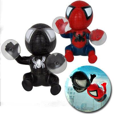 Black Auto Part (New 2X Red + Black Car Auto part Spider-man Doll Lovely Accessories Sucker Decal )
