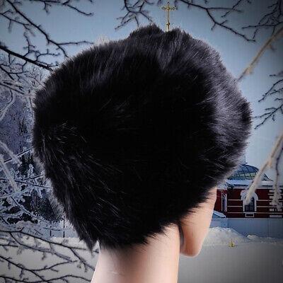 Damen Russische Kosaken Wintermütze Mütze Fellmütze Faux Pelzmütze Hut ly