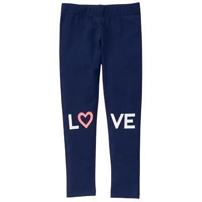 NWT Crazy 8 Blue Sparkle Love Girls Leggings 5-6 7-8 10-12 14 Valentines Day - Girls Sparkle Leggings