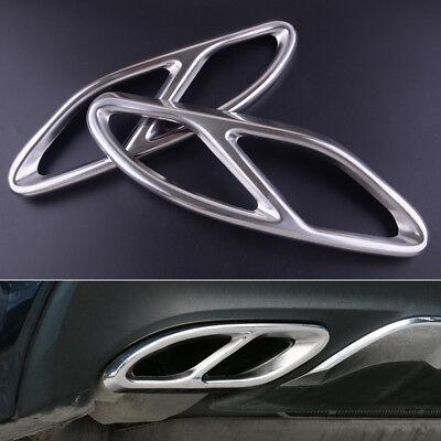 2xZylinder Auspuffrohr Abdeckung Trim für Mercedes Benz GLS B A C Klasse 2015-17