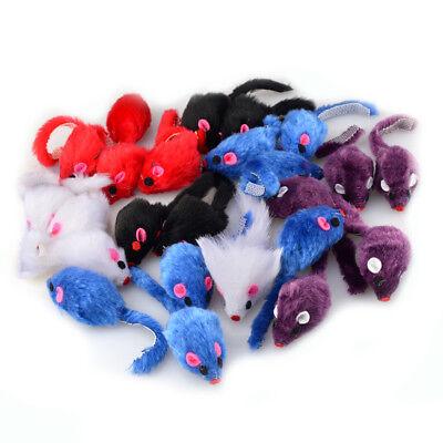 24Pcs Furry Mouse Cat Kitten False Fur Cute Toy Faux False Mice Cat Toys