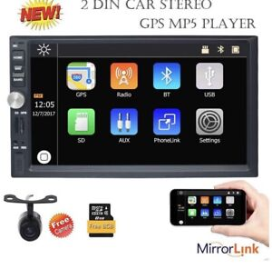 Eincar 7 Inch Touch Screen Double Din Car Stereo With Bluetooth