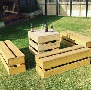Timber Bench Seats