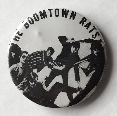 RARE Vintage 70s The Boomtown Rats pinback button pin badge band Bob Geldof 1.5""