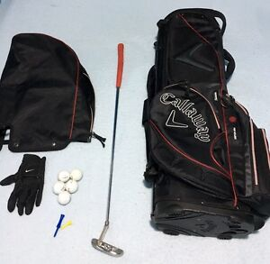 Golf Bag with Ping Putter and  accessories Shoalwater Rockingham Area Preview