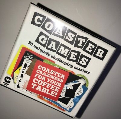 Coaster Games -  30 Coffee Table Cocktail Ice Breaker Activity New FREE (30 Table Games)