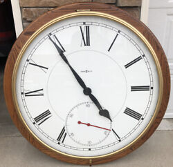 HOWARD MILLER 622-525 LARGE 42  WOODEN FRAME GALLERIA WALL CLOCK ELECTRIC