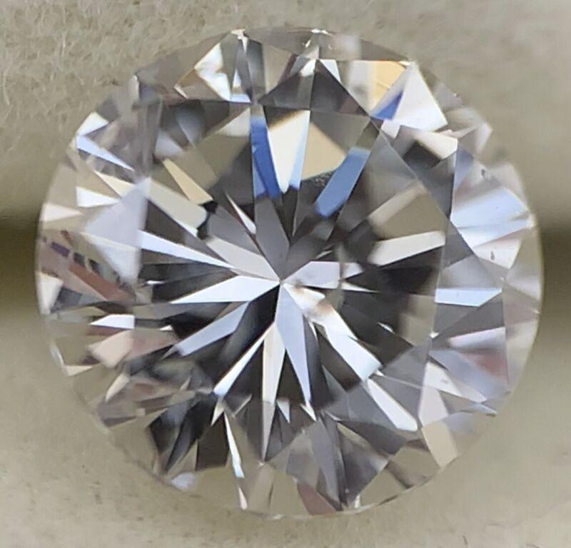 0.45 Carat Brilliant Round Cut Natural Loose Diamond SI-2 Clarity/ F-G Color