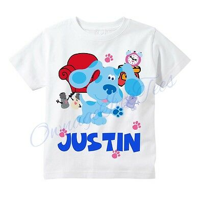 Blues Clues Custom t-shirt Personalize Birthday gift Add NAME - Personalize Gift