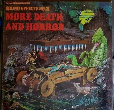 EATH & HORROR LP BBC UK 1978 VG+ BLOOD RED VINYL HALLOWEEN (Halloween 1978 Musik)