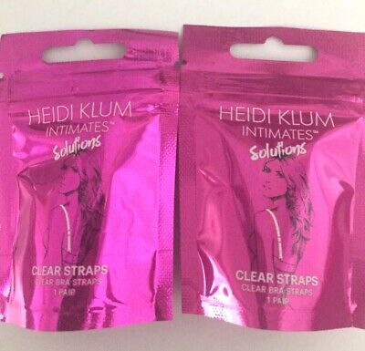 Lot Of 2 Heidi Klum Intimates Solutions Clear Bra Straps 1 pair In Each Package