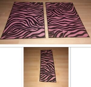 Carpets/Area rugs ( pink & zebra)