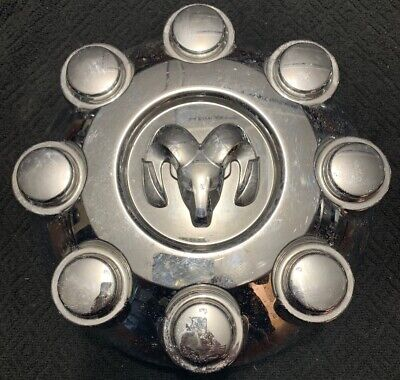 Dodge RAM 2500 3500 52121450AA 8 Lug Factory OEM SRW Chrome Center Cap Cover L