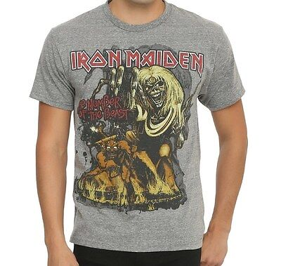 Official Iron - Iron Maiden NUMBER OF THE BEAST NOB T-Shirt NEW Licensed & Official