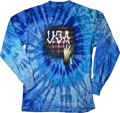 Buy Cool Shirts USA Spray Paint Tie Dye Long Sleeve Shirt (Spray Tie Dye)