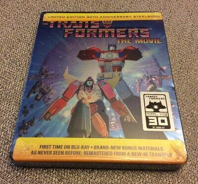 The Transformers Movie 30th Anniv. STEELBOOK Edition BLU Ray 4K Transfer New OOP