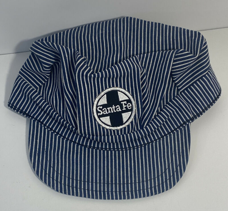 VTG Santa Fe RR Engineer/Conductor Utility Cap Sz 7-1/2, Sanforized, Made in USA