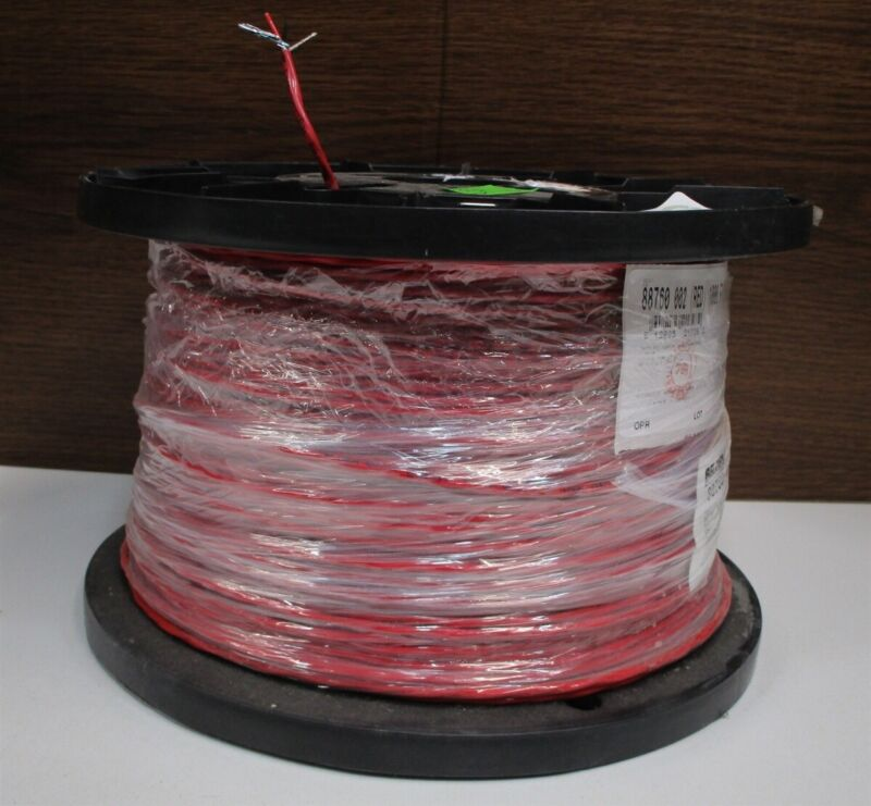 BELDEN 88760 RED 2 Conductor #18 1000 ft 305 mtr Control Cable Plenum Rated NEW