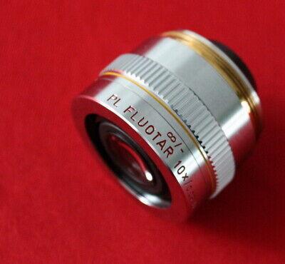 Leitz Wetzlar 567015 Pl Fluotar 10x 0.25 D Microscope Objective